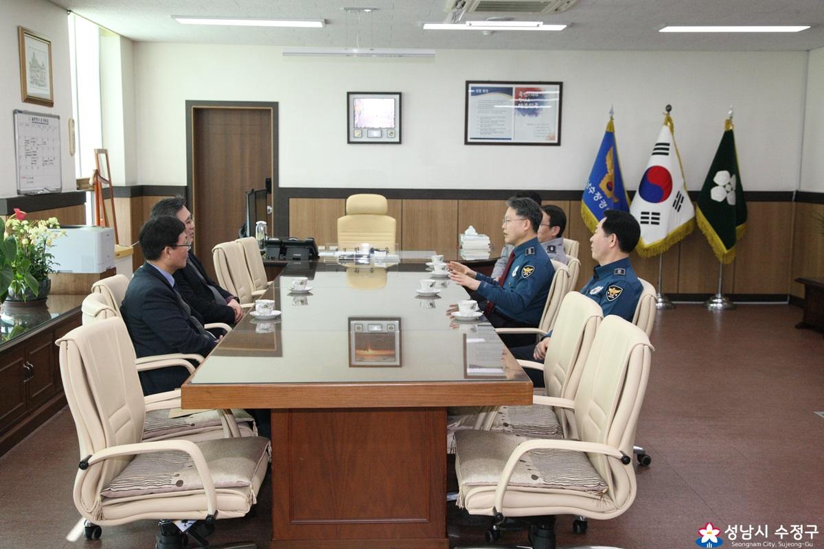 2-13 수정경찰서 기동타격대 및 112타격대 위문품 전달